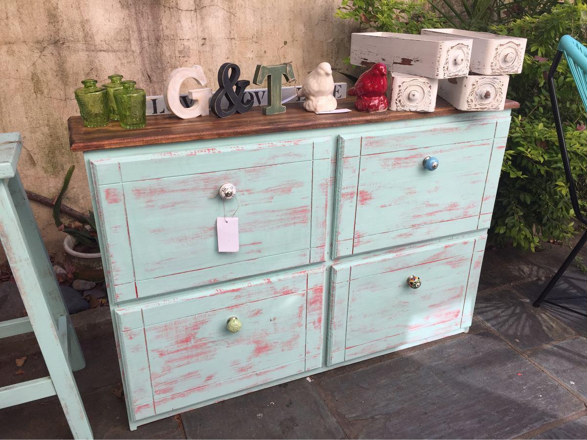 Botinero Zapatero Mesa Apoyo Vintage Muebles Reciclados 2 700  # Muebles Reiclados