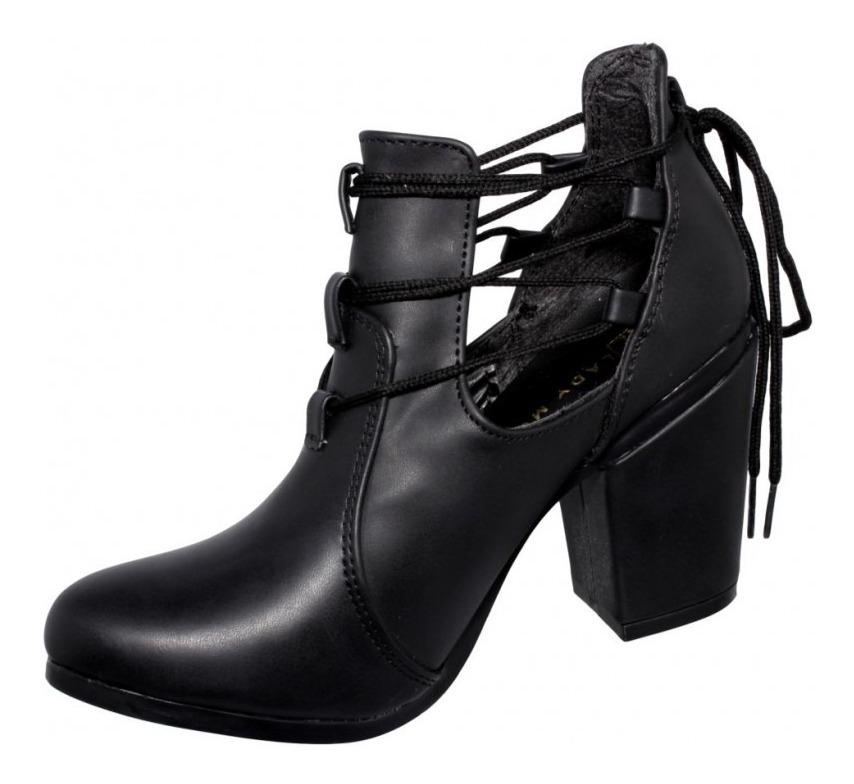 zapatos deportivos e819a c0de2 Botines Abiertos Para Mujer Negro-mod.0856la5217278