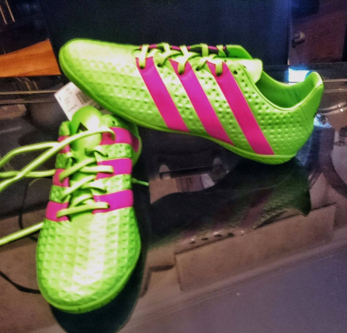 adidas rosa y verde