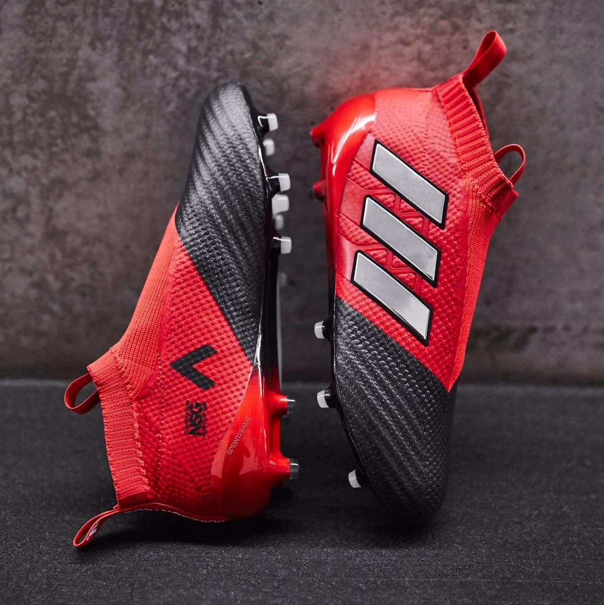 huge selection of fe54c b3f48 Botines adidas Ace 17 Talle 10 Usa Y 11 Usa Rojo Y Negro -   3.300 ...