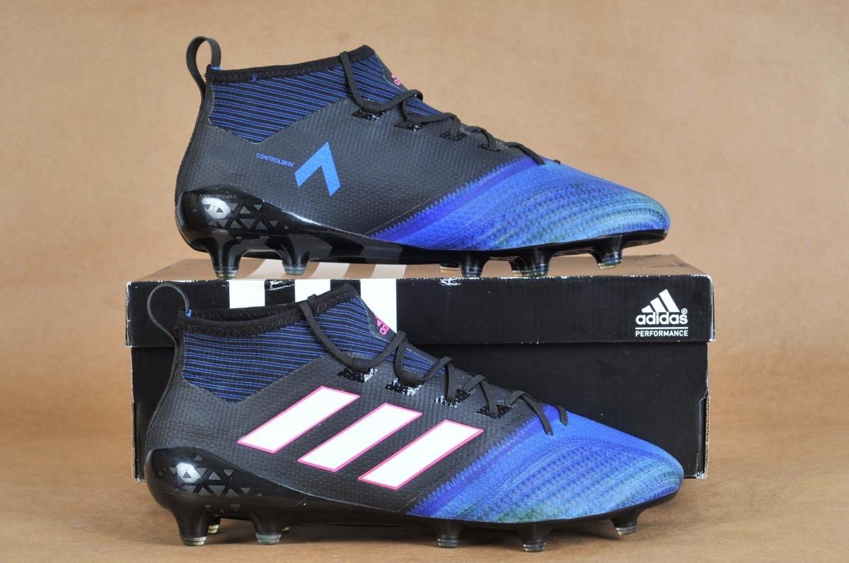 on sale 13fc2 0733e Botines adidas Ace 17.1 Primeknit Black Blue