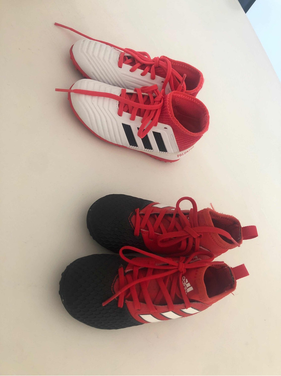 ... purchase botines adidas predator nenes impecables blancos rojos negro  61324 af15c 2c5b5e8c17b31