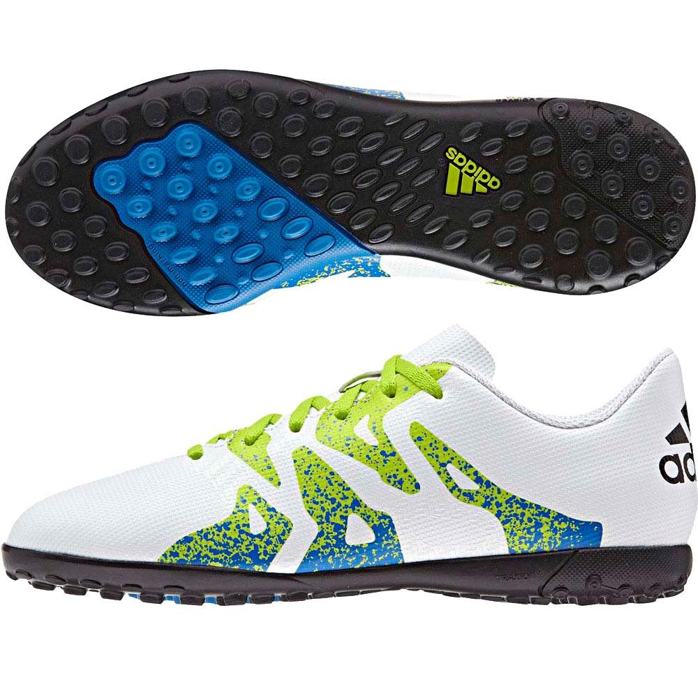 botines adidas x 15.4 tf cesped artif niños blanco c verde. Cargando zoom. aa53f148327e1