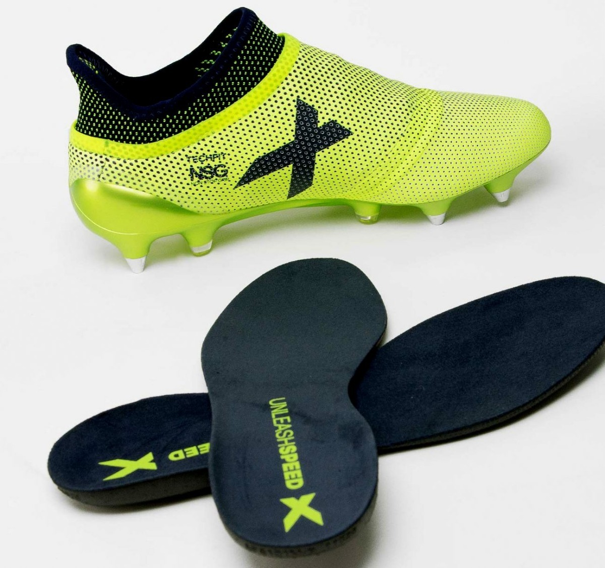 online retailer uk cheap sale beauty Botines adidas X 17+ Purespeed Sg Mx Solar Yellow/legend Ink