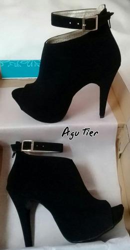 botines agutier zapatos de taco