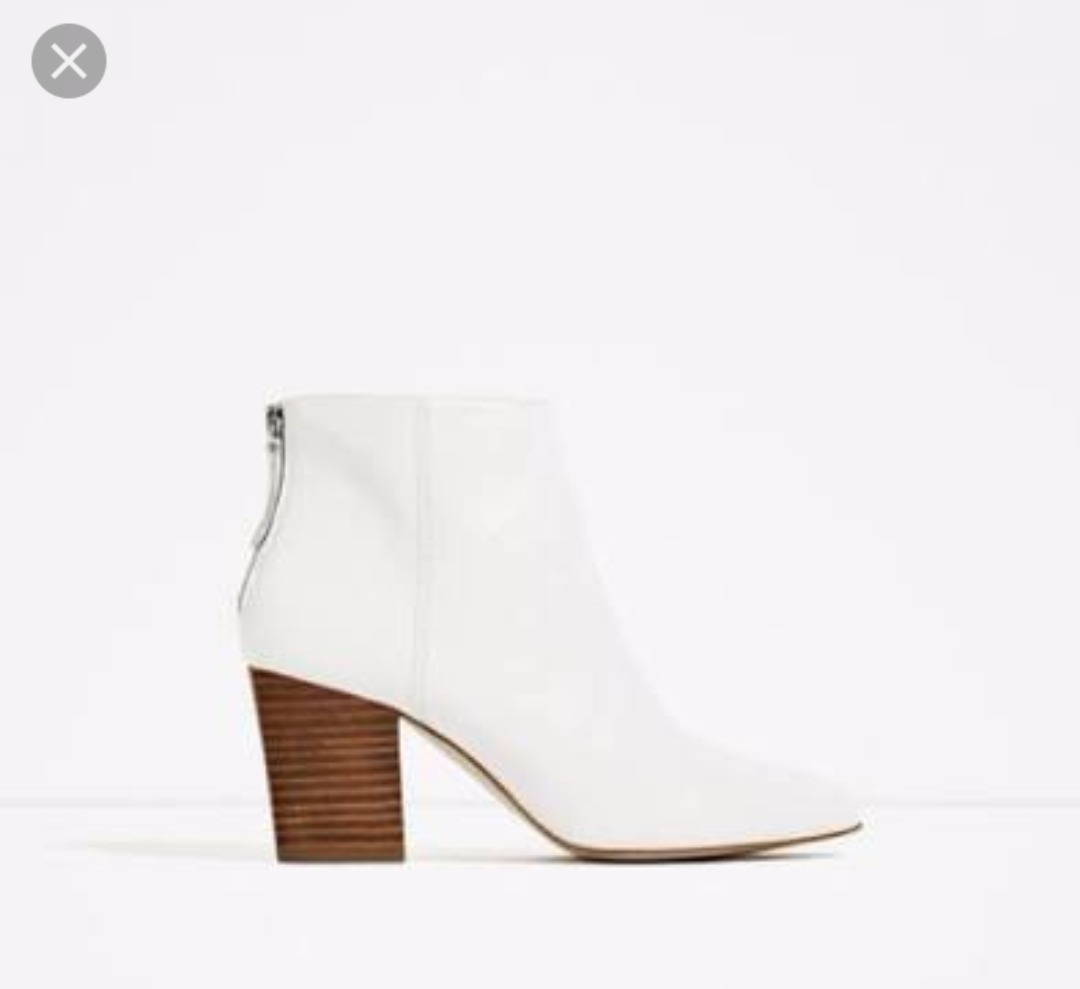comprar baratas bastante baratas garantía limitada Botines Blancos Zara Talla 4 En Piel