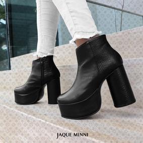paquete de moda y atractivo precio limitado estilo actualizado Botines Botas Cuero Fiesta Mujer Zapatos Calzados Plataforma
