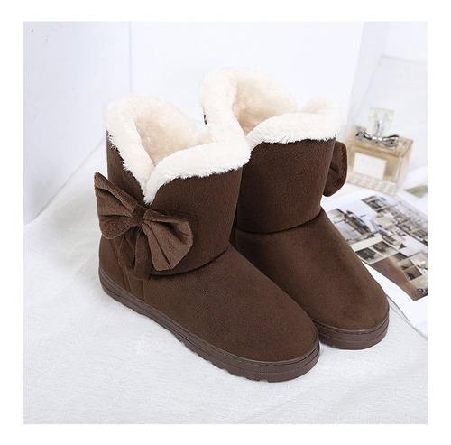 botines botas de mujer botas lazo invierno negro /cafe 35/36