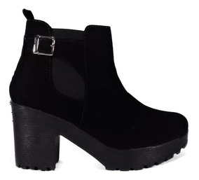 Tacon Botines Botas Mujer Zapatos 52 Negro Nobuck xdBoerC