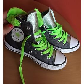 0d8a3e478d69 Vendo Converse De Niña Talla 29 Color Gris Y Verde
