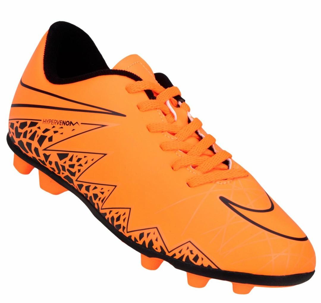 0c597d08ed1ab Botines Con Tapones Nike Mercurial Naranja Talle 35.5 -   1.299