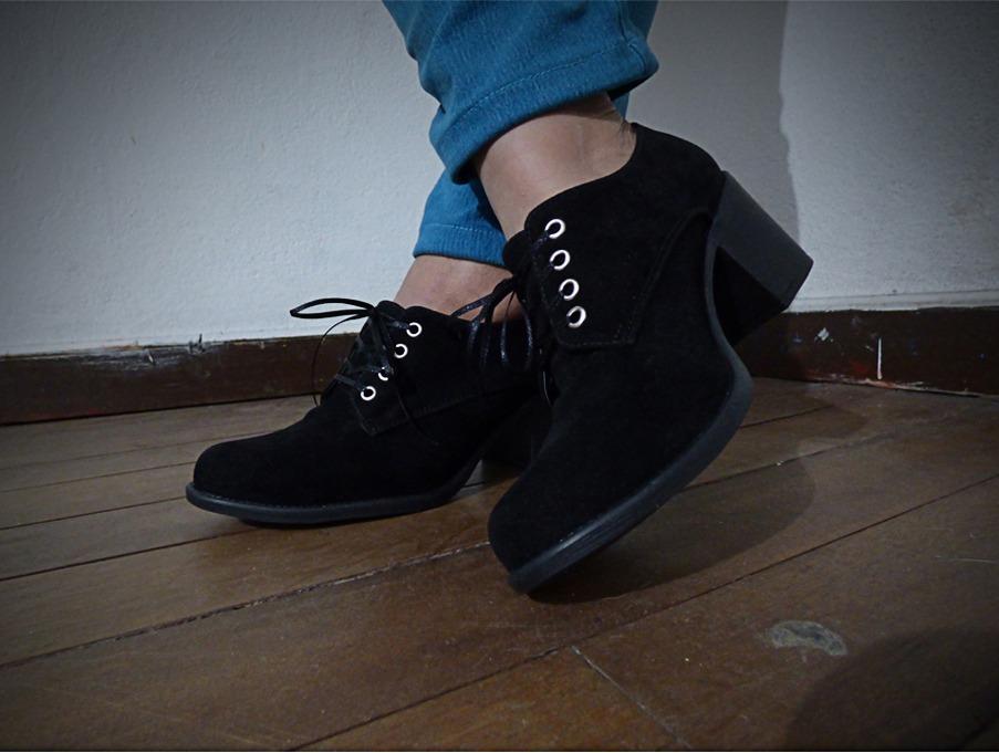 36248a65cb Botines Dama Zapatos Mujer Negros Moda 2018 -   76.790 en Mercado Libre
