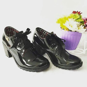 Cordón Botines Grueso Envío Zapatos Moda Tacón De Gratis mvn0wN8O