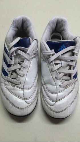 botines de cuero n°28-29 marca adidas, casi sin uso