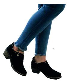 zapatos de separación 96f44 2d7d8 Botines De Dama Tacon Bajo Cx Envio Gratis