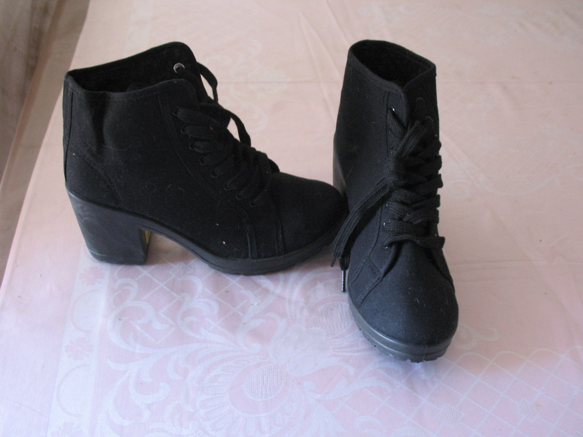 04f4659cfc8a4 Botines De Lona - Zapatos De Verano Negros -   15.000 en Mercado Libre