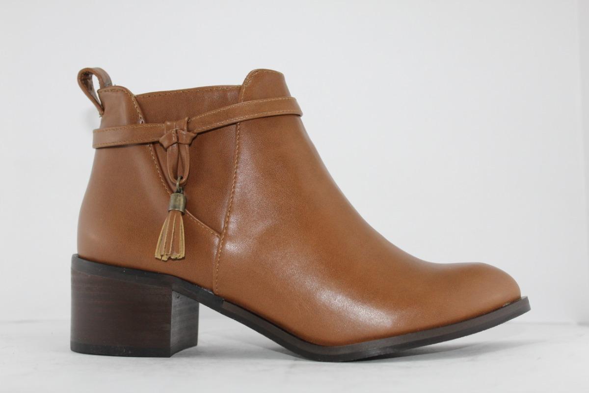 b55dec6285b5a botines de mujer con tacón zapatos botas para dama 2 colores. Cargando zoom.