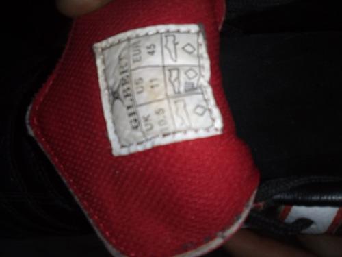 botines de rugby gilbert talle 45 ,negro/rojo