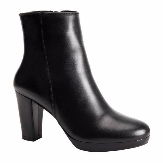 4e64f891 Botines De Vestir De Dama Sd Color Negro Piel Bt298 - $ 761.00 en ...