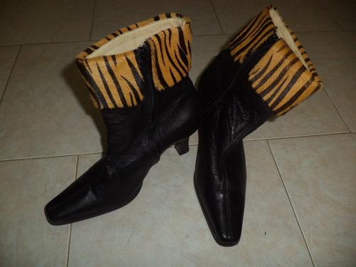 botines mario nardi #37 originales cuero y piel