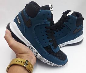 Zapatos Botines Morados Zapatos Nike de Hombre Negro en