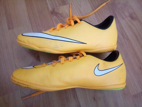 botines nike mercurial impecables  talle 4,5y 23 cm 36.5