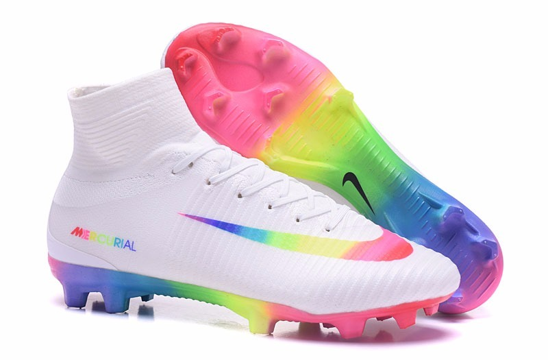 5953bf3c Botines Nike Mercurial Superfly V Fg Rainbow - $ 3.599,00 en Mercado ...