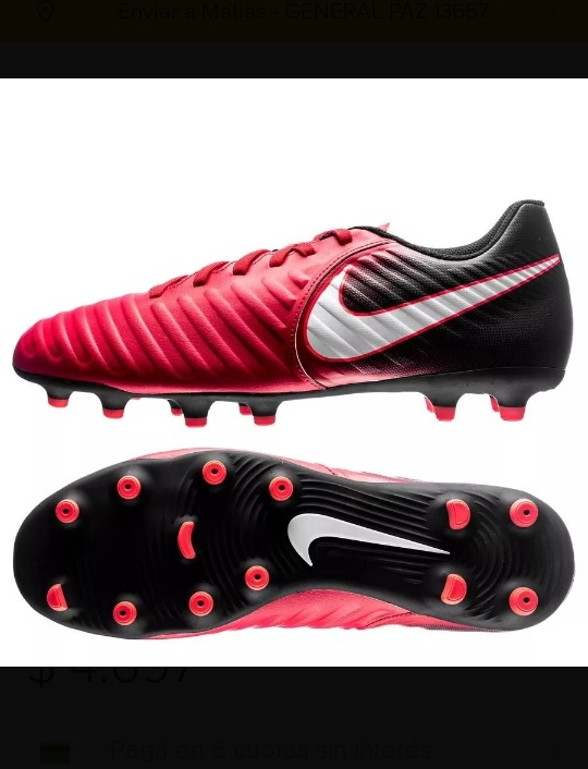 top quality super cute super cute Botines Nike Tiempo Rio4 Fg Nuevo Original Talle 41 Br Us 95