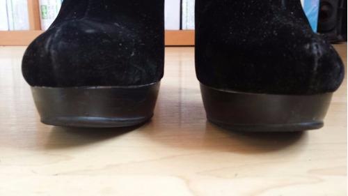 botines para dama con cierre, color negro  # 24