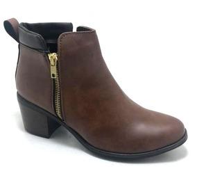 dc458480ed Botín Vaquero Color Cognac Dama Vg1 Mn4 Mujer - Zapatos en Mercado ...