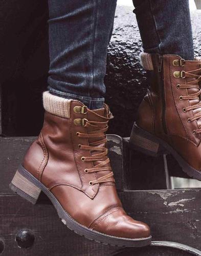 botines zapatos de cuero mujer,moda 100% cuero