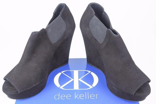 botines zapatos dee keller suede peep toe ankle
