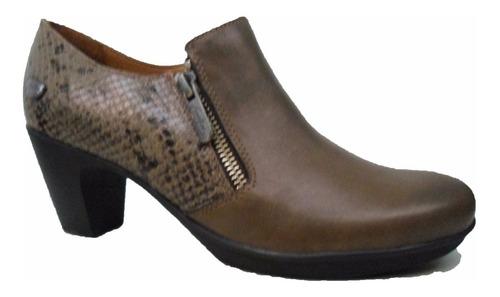 botineta botita bota cavatini de vestir doble cierre cuero