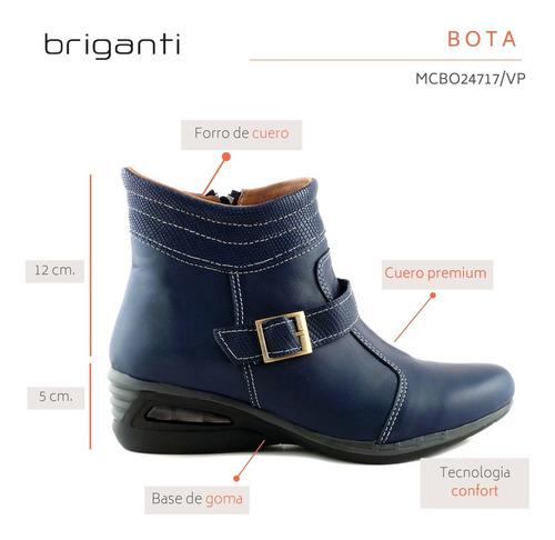 botineta cuero mujer briganti bota zapato camara mcbo24717 v