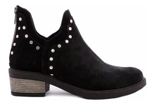 botineta mujer cuero gamuzado citadina scarpe oferta