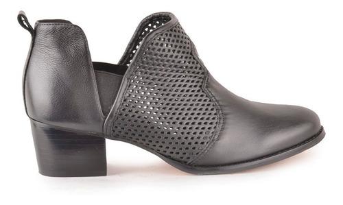 botinetas botas de mujer de cuero texana mercurio - ferraro