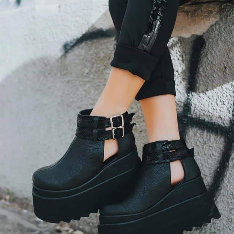 585eefbf434 Botinetas Botas Plataformas Hebillas Zapatos Mujer -   2.100