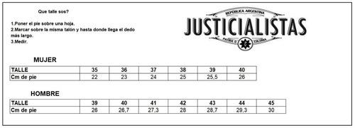 botinetas cuero resistencia (botitas) justicialistas