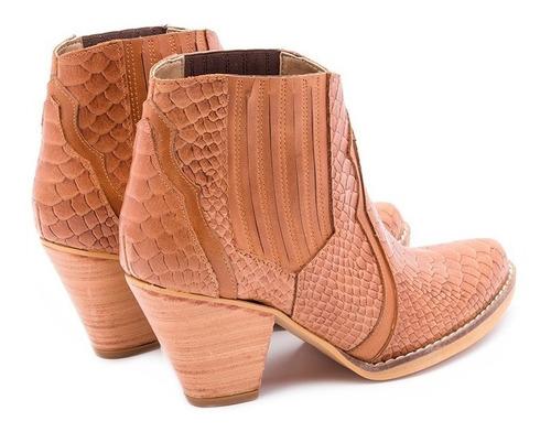 botinetas texanas botitas botas 100%cuero art 604-2 tallon