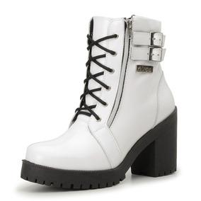 11d87d343 Botas Coturnos Atron Shoes para Feminino Vermelho no Mercado Livre Brasil