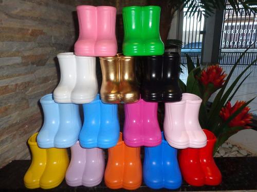 botinha / galocha em cerâmica / bota peppa / cachepot / vaso