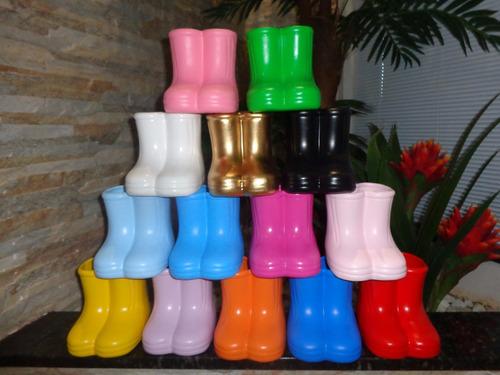 botinhas botas cerâmica decoração festa-galochas-vasinho