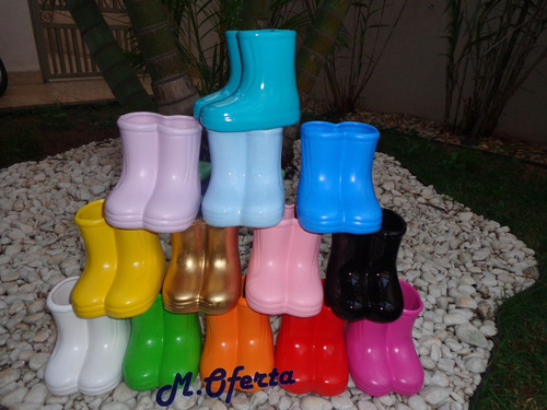botinhas cerâmica decoração festa-galochas-vasinho peppa