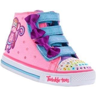 84a300698 Botinha tênis Skechers Infantil Feminino Twinkle Toes 10438 - R  120 ...