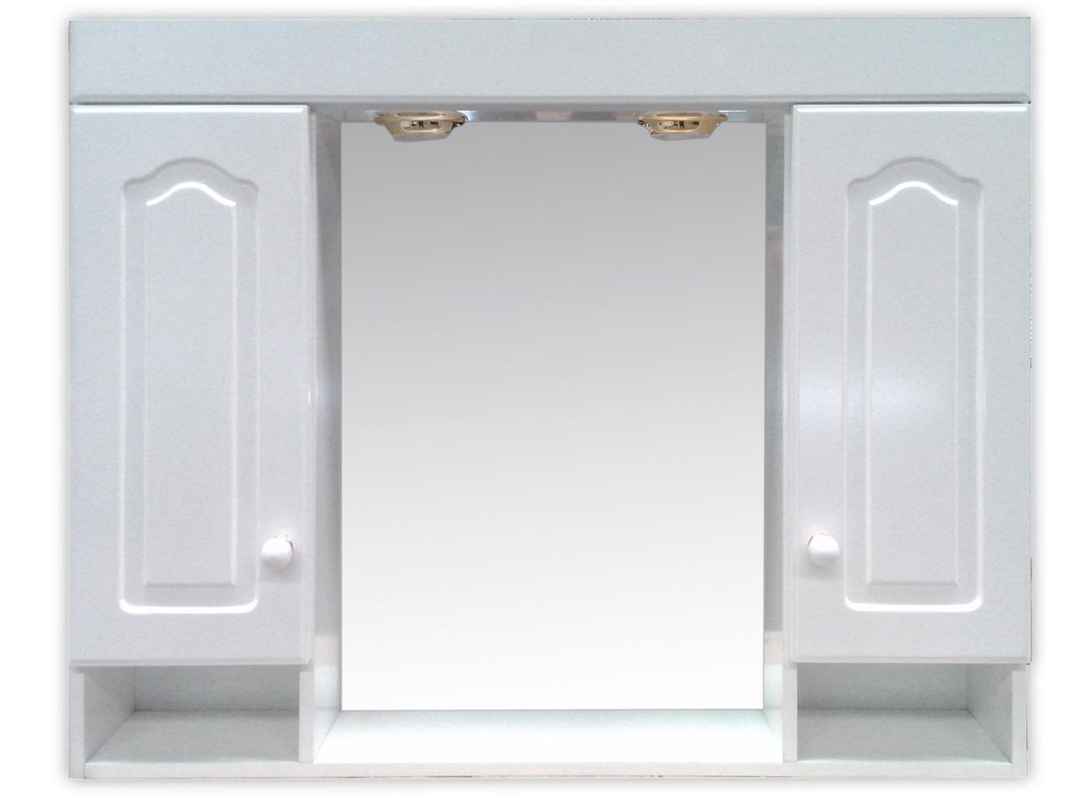 Espejo Botiquín Baño Blanco Peinador 80x70 Laqueado Con Luz ...
