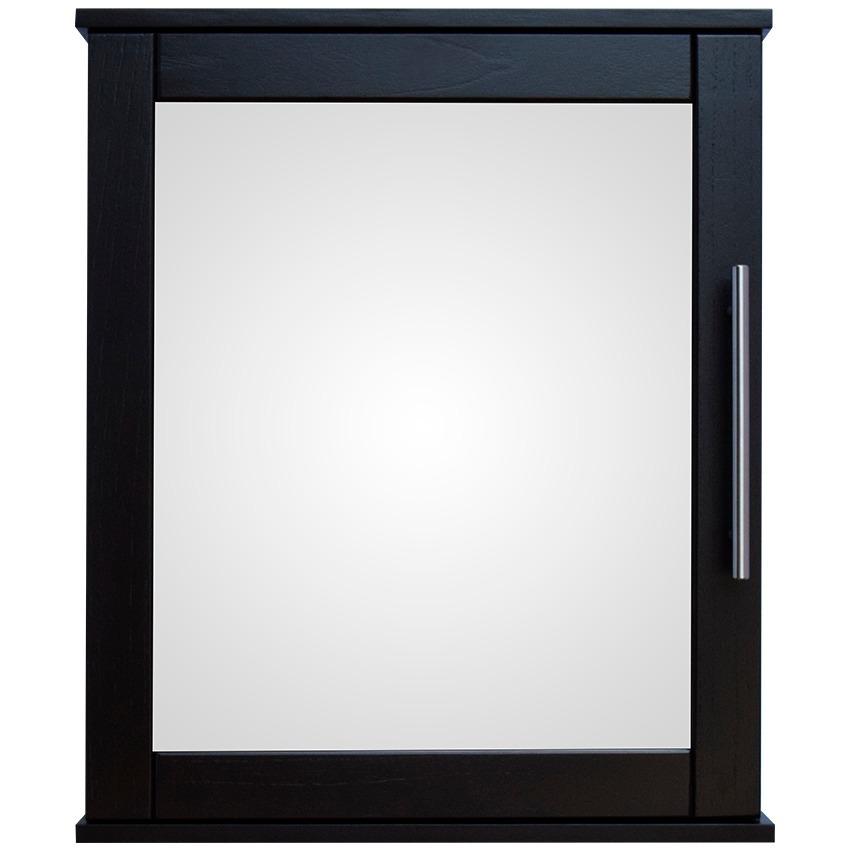 Botiqu n con espejo para ba o de madera gudeco gbe 05 for Espejo con repisa para bano