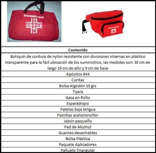 botiquin de emergencias (primeros auxilios)