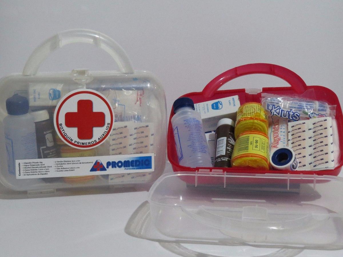 Botiquín De Primeros Auxilios Apromedic Portátil Equipado