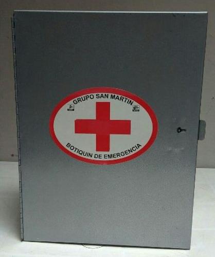 botiquin de primeros auxilios industrial, sin medicamentos.