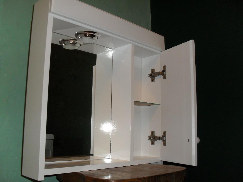Peinador botiquin espejo laqueado con luz ba o vanitory - Espejos de bano con luz ...